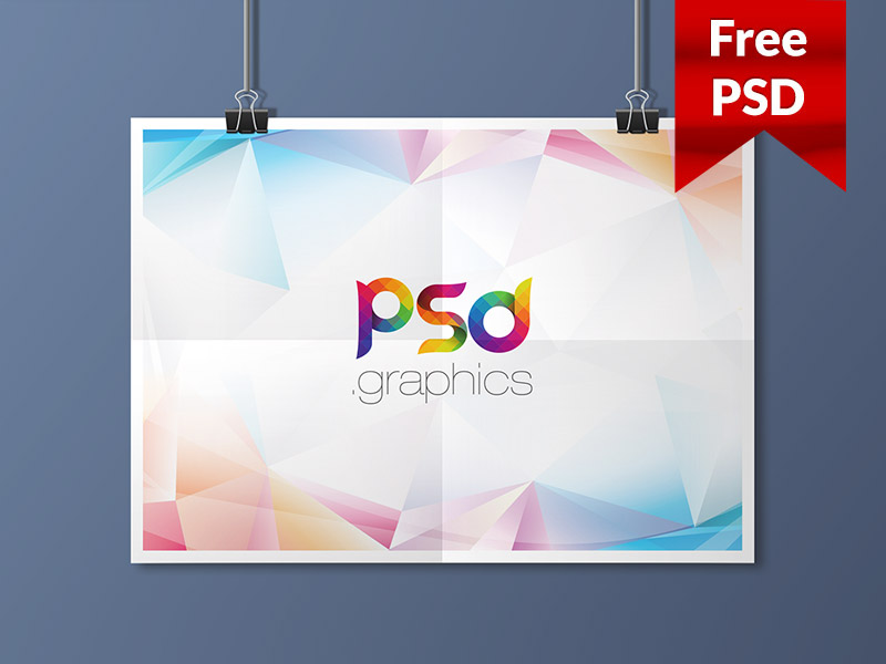 478a06f15c528e9199737fdbe4773958 - Hanging Landscape Poster Mockup Free PSD