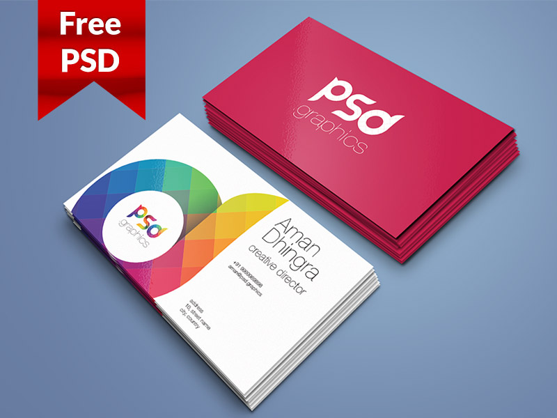 4a3cb44caa440d92c80e21976003eca4 - Business Card Mockup Template Free PSD