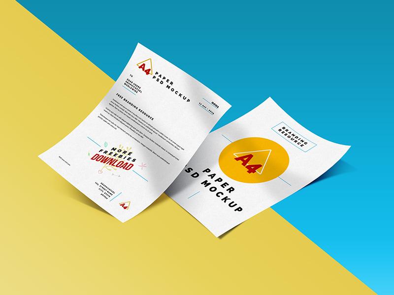 4ac894ed73623517ce5d582486ea9d32 - A4 Paper Mockup PSD