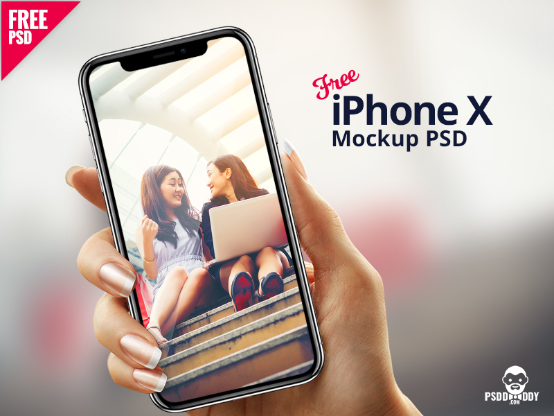 4b41d5e2a87499495515d4820e9bc4da - iPhone X in Hand Mockup PSD