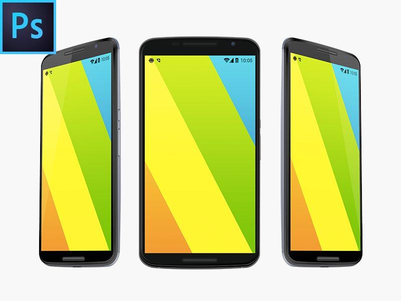 4ca3b6decfd8343a25effb411846fc80 - Nexus 6 Free Vector PSD MockUp