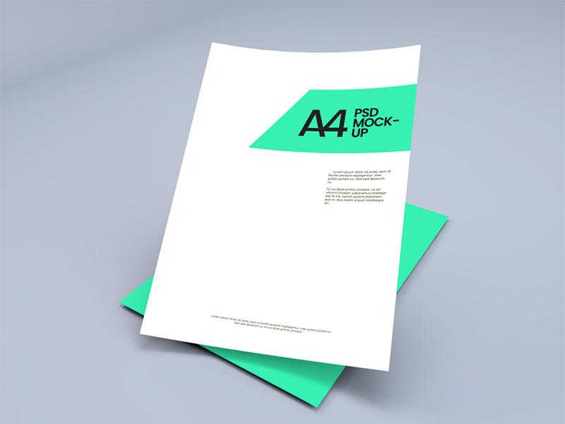 4cf5e46edb4d1bf9f1c0639023481d8b - A4 Paper Sheet Mockup