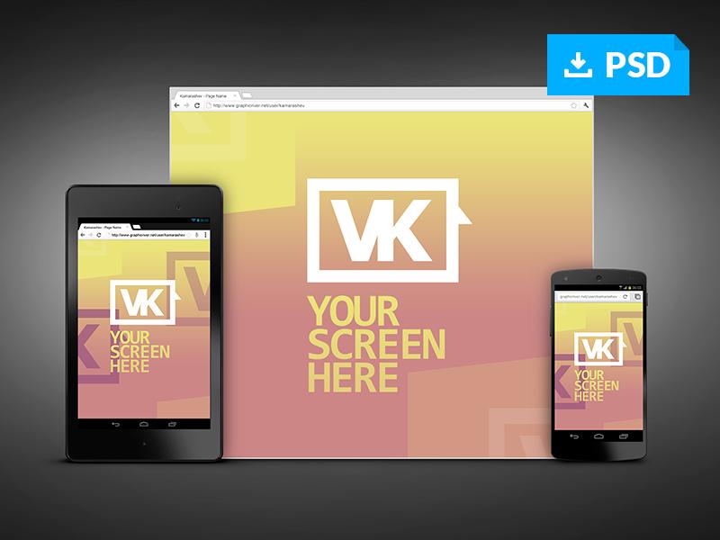 4d8463351b72455812000145bb30e165 - Responsive Screen Web Mockups - Free PSD