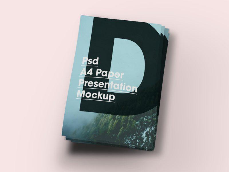 4d8fa63a0fe0cb9daec54142cbccfefe - Free A4 Paper Brochure/Flyer Mock-Up PSD
