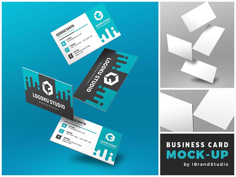 4e2be8e4a02a09339ac2ea5b2f8b9590 - Free Floating Business Card Mockup (Scene 1)