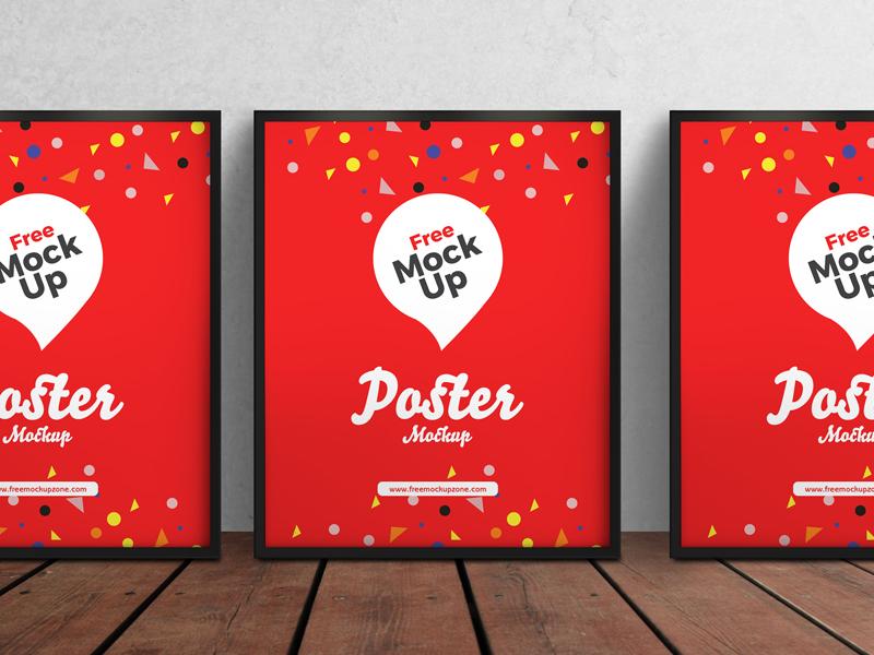 50061e364d55b6d3f1e54eb7baea713e - Free 3 Psd Posters Mockup