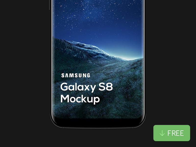 533cbc22064d98b4b0ab71a748fd5b30 - Free Samsung Galaxy S8 Mockup (PSD)