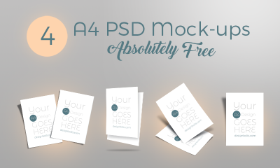 55544b5e473384e5874360ad19c7b7c9 400x240 - Free A4 Flyer PSD Mock-ups