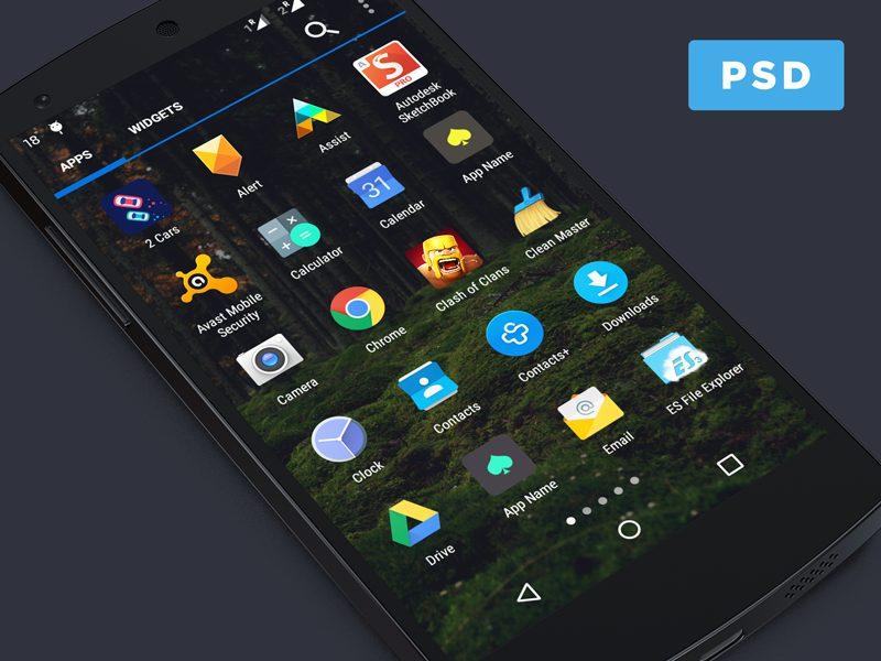 56544229ce9eb6943cf559897218efee - Android App Icon Menu Mockup