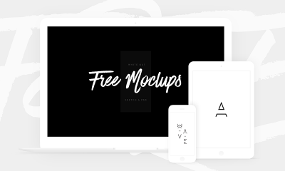 581c7aa13b07a3c62194b7cc00fe2544 400x240 - Free White Devices Mockups - Sketch & PSD