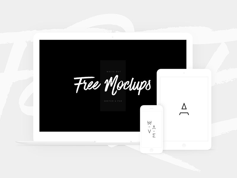 581c7aa13b07a3c62194b7cc00fe2544 - Free White Devices Mockups - Sketch & PSD