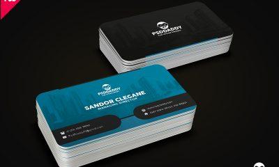 58874b46b5686c8f5fa5188b45b3f567 400x240 - Corporate Business Card Template Free PSD