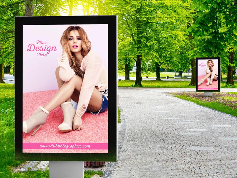 5a02b574b026fdef5224314e521fa57d - Free Outdoor Park Advertisement Billboard Mockup