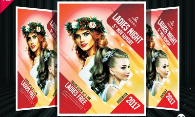 5a1f0e3ba1e9b48b916dfde2b2540608 400x240 - Ladies Night Party Flyer Free PSD Template Download