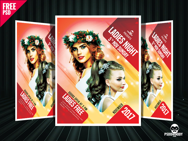5a1f0e3ba1e9b48b916dfde2b2540608 - Ladies Night Party Flyer Free PSD Template Download