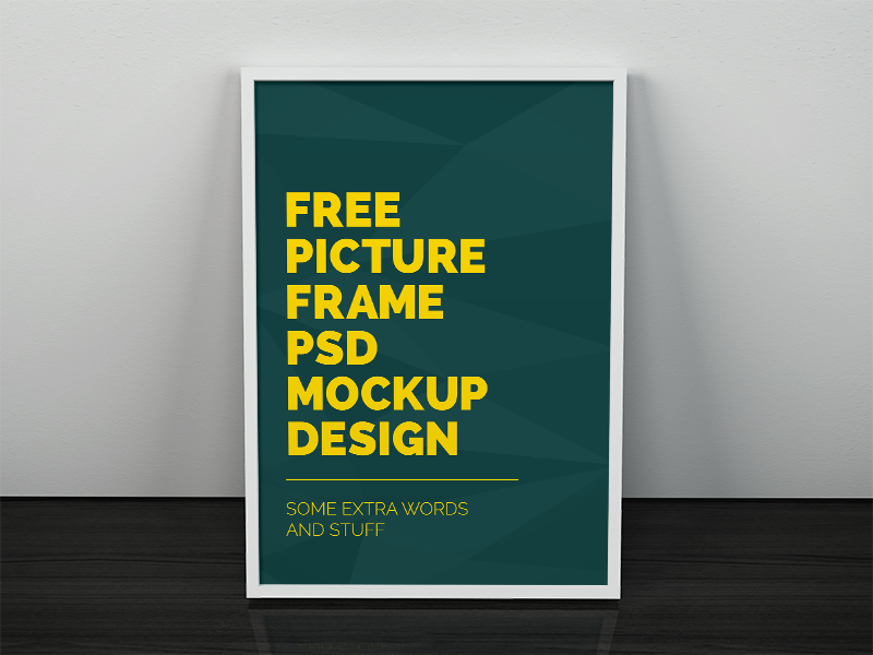 5c62f4b81fcbd18f0d546df431de4af9 - Freebie - Artwork Frame PSD Mockup