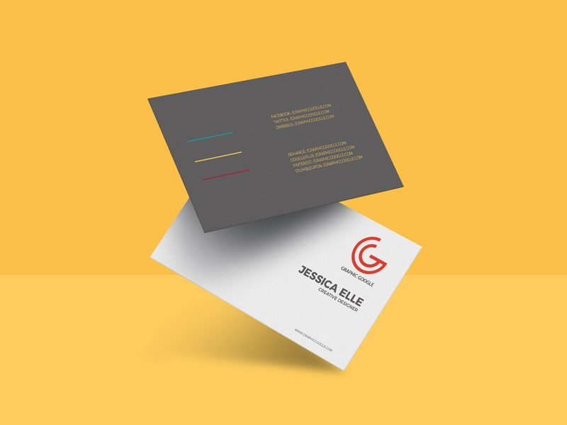 5dcafdd9990e4c93d8270966dae93f3c - Free Floating Business Card Mockup