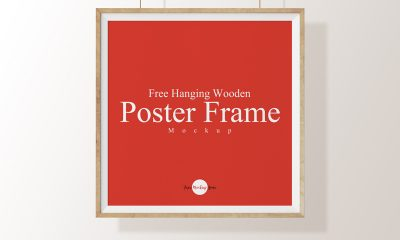 5f6b174eadf79f4b175195de00737c32 400x240 - Free Hanging Wooden Poster Frame Mockup Psd Template