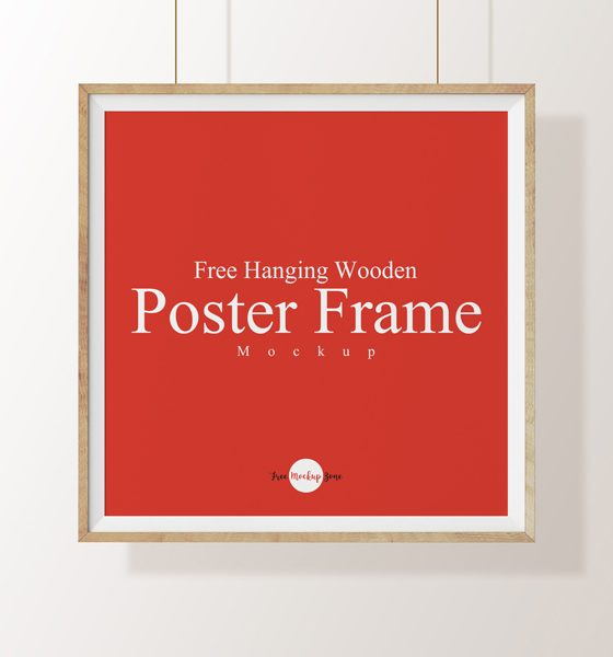 5f6b174eadf79f4b175195de00737c32 560x600 - Free Hanging Wooden Poster Frame Mockup Psd Template