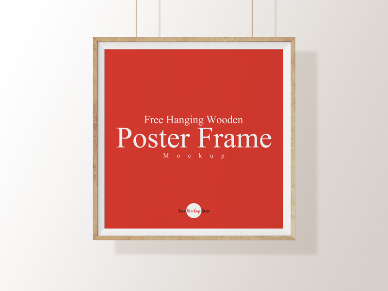 Free Hanging Wooden Poster Frame Mockup Psd Template ⋆ BestMockup ...
