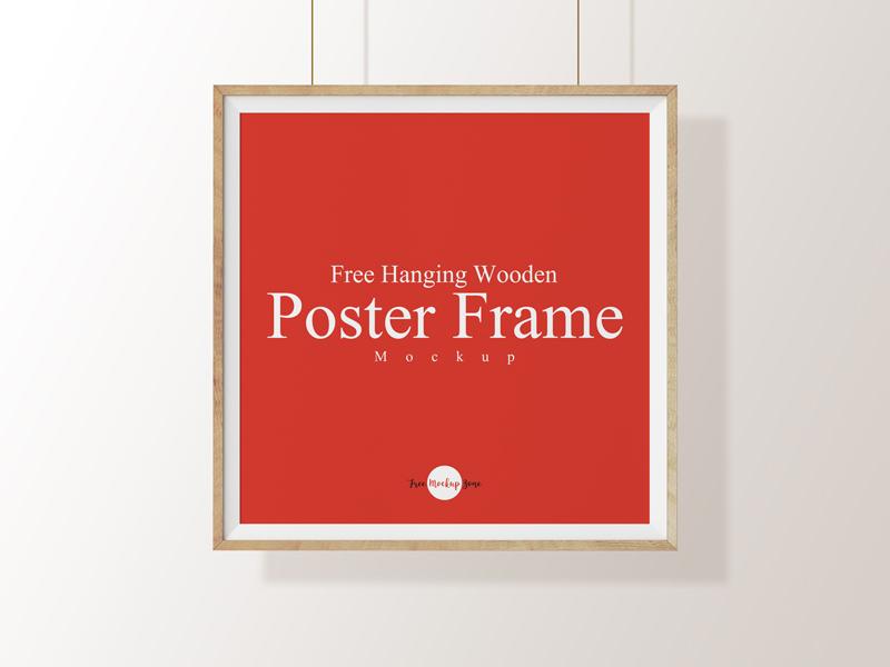 5f6b174eadf79f4b175195de00737c32 - Free Hanging Wooden Poster Frame Mockup Psd Template