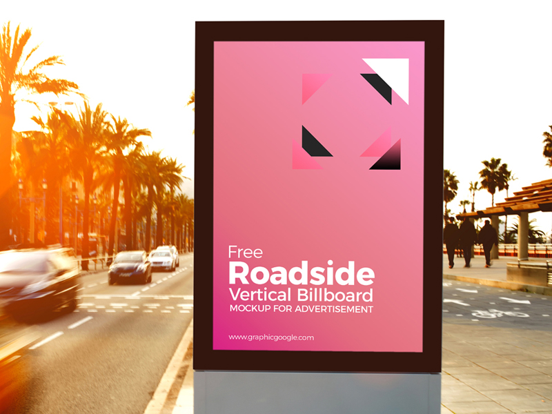 6178a400b0e6f2a7cae6799ade891bf1 - Free Roadside Vertical Billboard MockUp For Advertisement