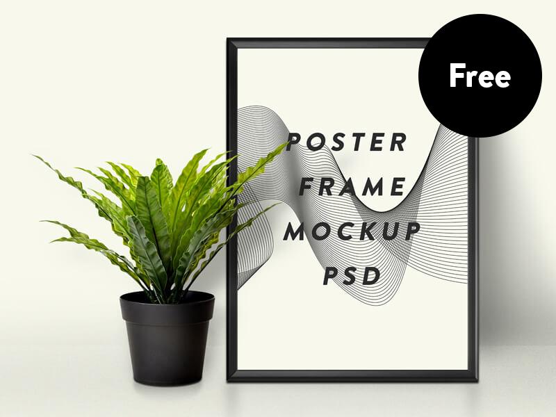 64194c6a64f7b2c59f11dbbd3f010173 - Free Poster Frame Mockup PSD