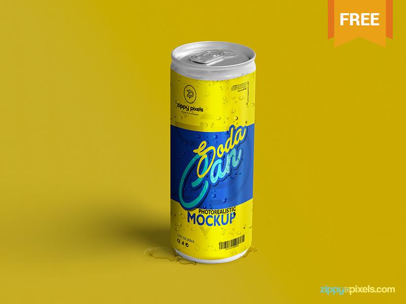 68950b54b191690d91bb4c025e77f625 - Free Soda Can Mockup