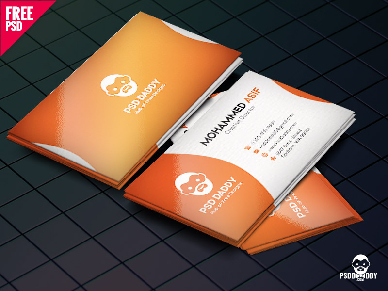 6b352d31cfdbe3242066c9ff2f96fa15 - Business Card Design PSD Free Download