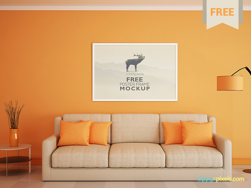 6c94307d94f588aac1f792bf32edeac9 - Free Poster and Photo Frame Mockup