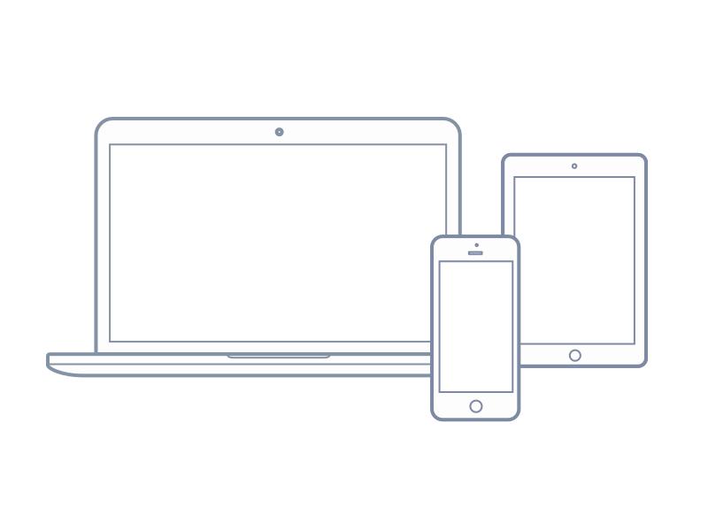 6ca95cb54bcc754328e7b340534e3f49 - Free vector: Macbook,  Ipad, and Iphone