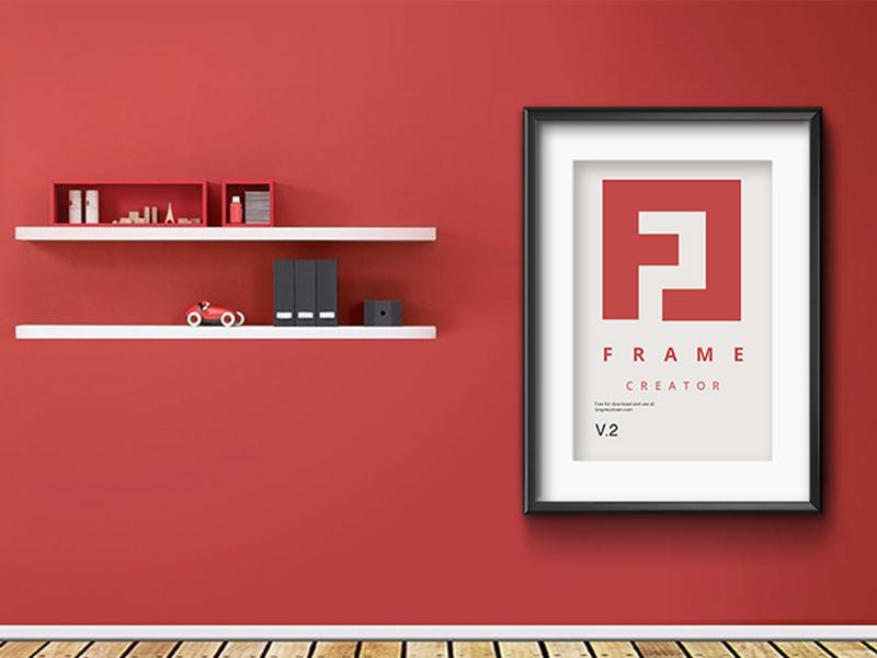 6f5a0b1f5b65e341590f0b032a83e516 - Wall Poster Frame PSD Free MockUp