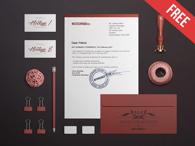 6f7207aea1fd3470e8cb54663a6430fc 1 - Craft Stationery Branding – 2 Free PSD Mockups