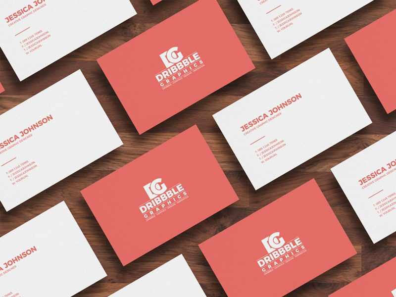 6fb3a7c31ef7295b412bbc5a39130e37 - Free Isolated Business Card Mockup