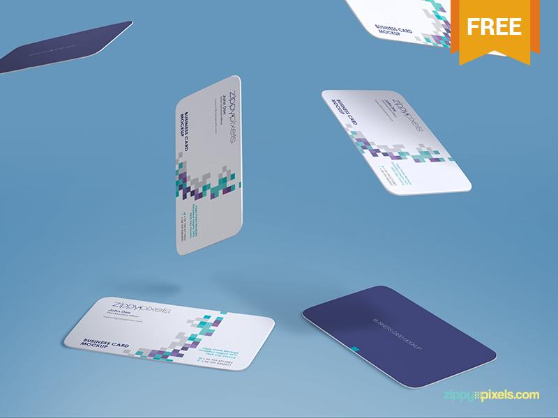 72658ad13d46e0fa53ad358c9584bbe1 - Free Gravity Business Card Mockup