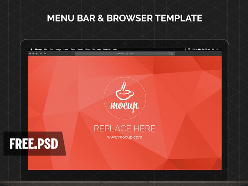 744d6b7fc4353ccf28a84506863af7d5 - Free Menu Bar & Browser Mockup