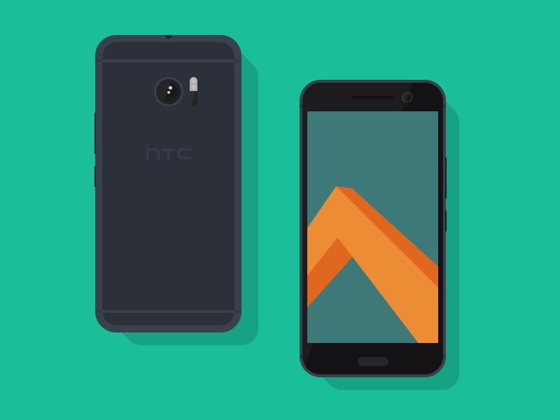 754ee732f9a4e449e648ac2de41506e1 - Freebie // Mockup: Flat HTC 10