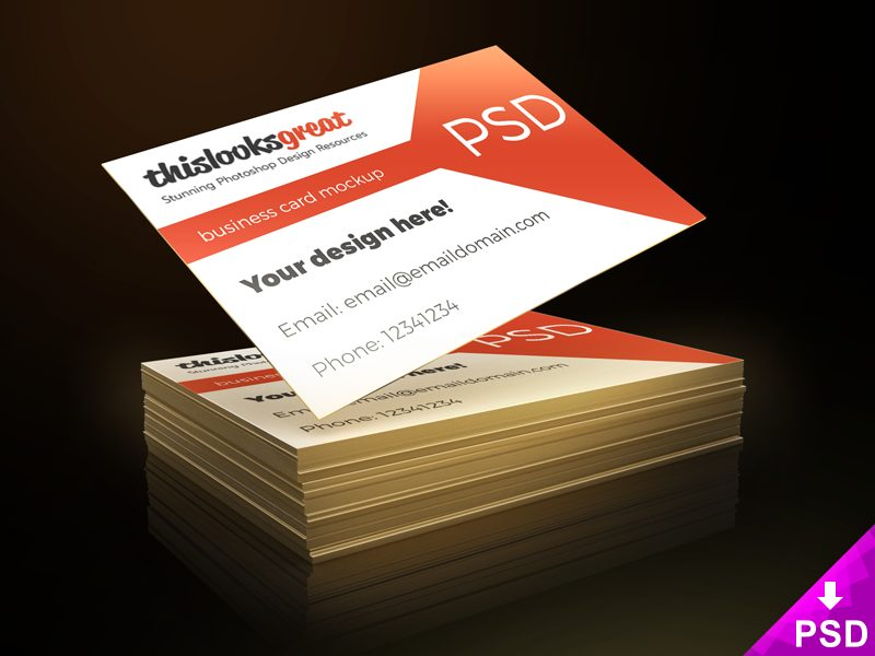 7618aa795e68ba3a2fdc015662cd6e14 - Business Card Freebie Mockup PSD