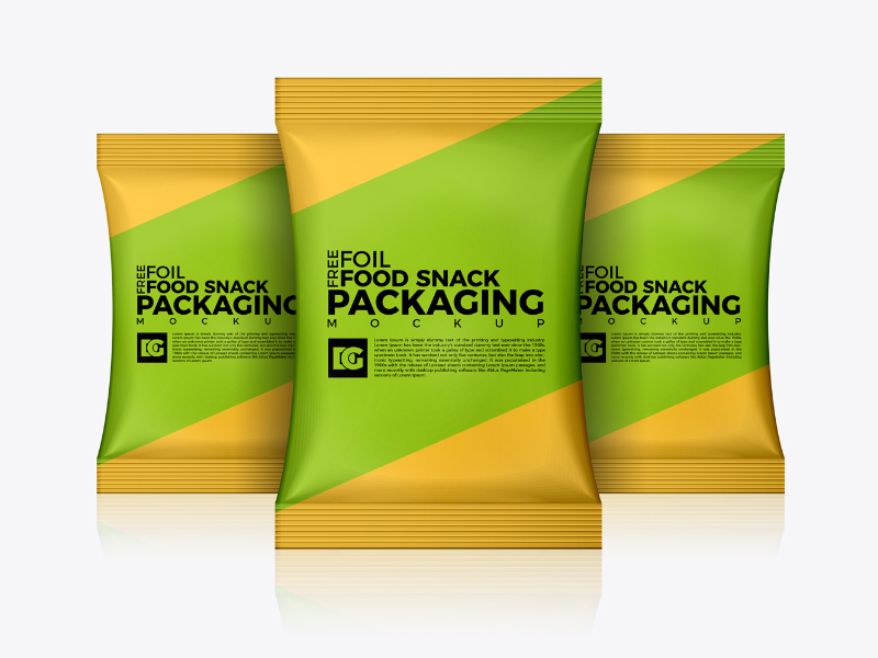 784324d471a26b17c4558581c8d0d848 - Free Foil Food Snack Packaging Mockup