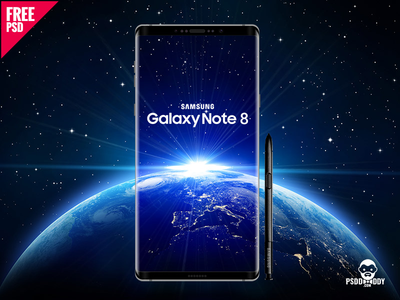 79064bf1b25e4f7aa16c4400a301c59a - Download Samsung Galaxy Note 8 Mockup PSD