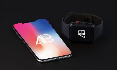 7989cc8cfd0c0be3f05e816f6569c44b 400x240 - iPhone X And Apple Watch Series 3 Mockup