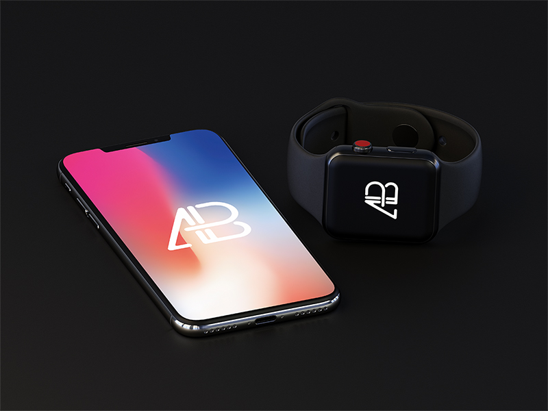 7989cc8cfd0c0be3f05e816f6569c44b - iPhone X And Apple Watch Series 3 Mockup