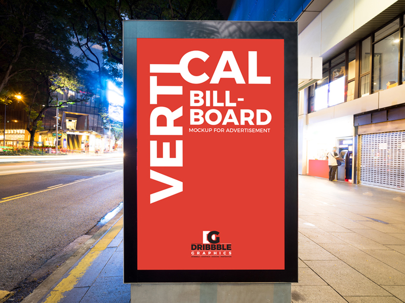 7a090fd22accba23bbd58b4414bd336e - Free City Street Vertical Billboard Mockup For Advertisement