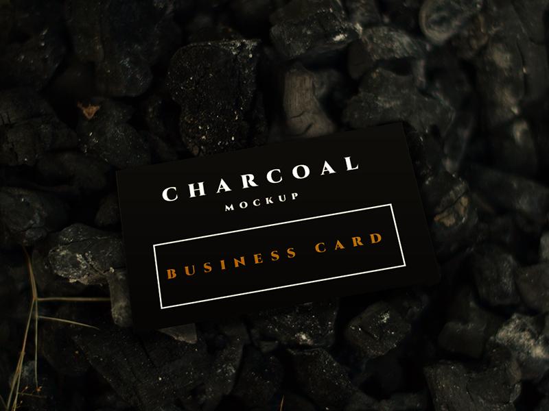 7a16b3d95d5263ad5b9439fd00d5bec4 - Free Charcoal Business Card Mockup