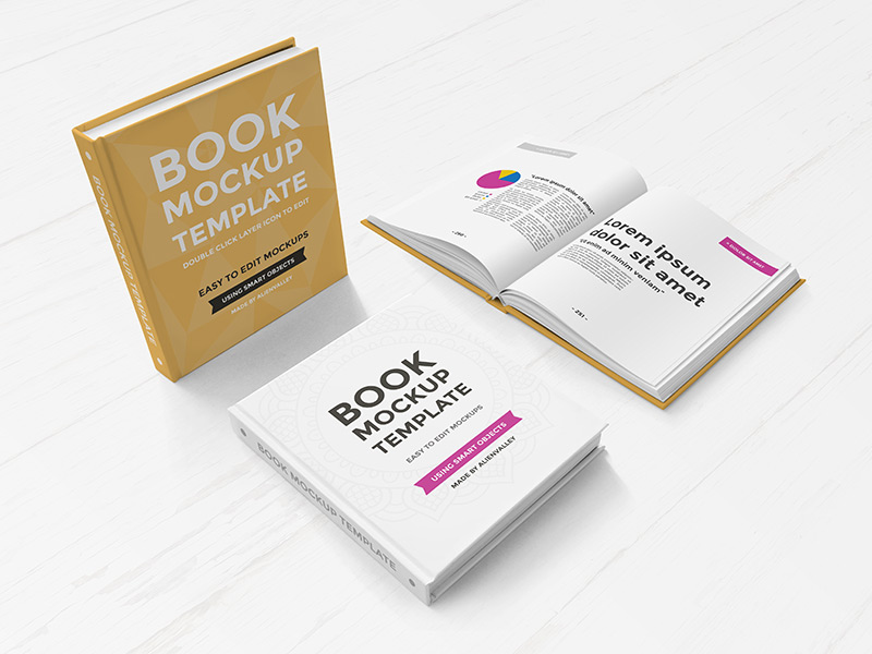 7a59a95710ca932c14a298fd6356bc44 - Freebie: Hardcover Book Mockup Set