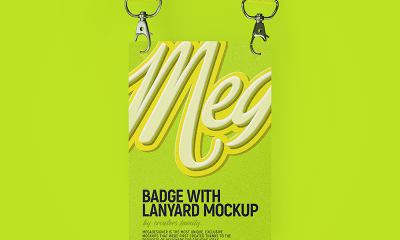 7afd80490719d99fe407e22f93d2eb97 400x240 - Badge with lanyard (Free mockup)