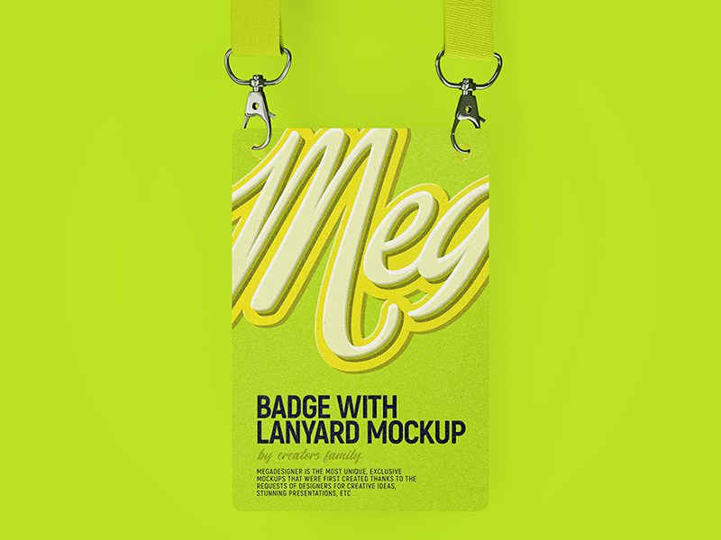 7afd80490719d99fe407e22f93d2eb97 - Badge with lanyard (Free mockup)