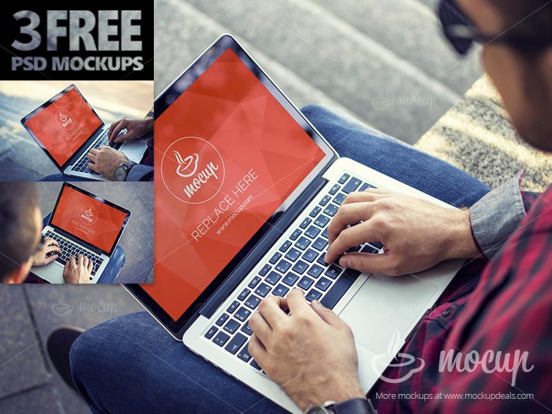 7b42ba6af34f2a7036821be803bc804f - 3 FREE PSD Mockups MacBook Pro