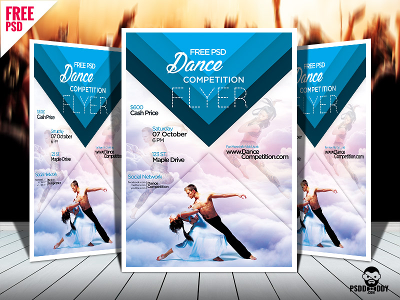 7beb6a5fc02738da1e382733050fae57 - Dance Competition PSD Flyer Template Free Download