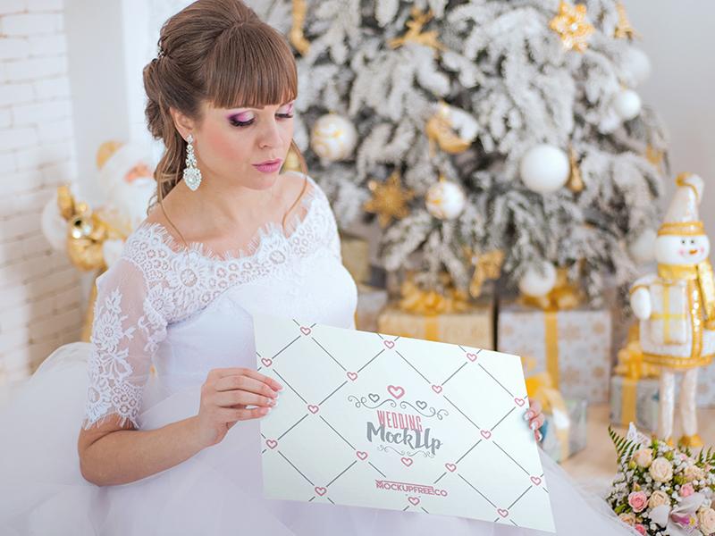 7d4f9d6f67bfd37570e618ac3d1b723a - Wedding invitation, poster, book – 7 Free PSD Mockups
